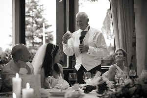 Father of the bride trying to keep emotion in check