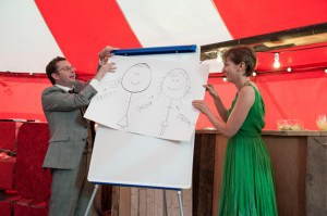 A speech illustrated with Flipchart art (photo credit: confetti.co.uk)