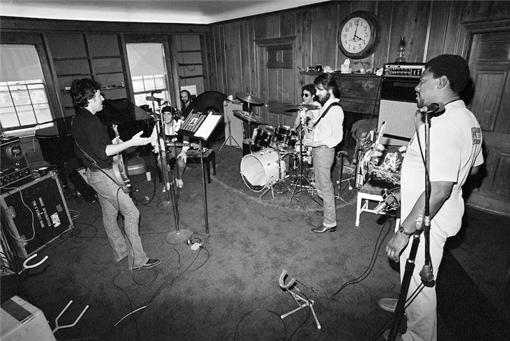 Bruce Springsteen and the E Street band practise, practise, practise. Photo credit: Lynn Goldsmith